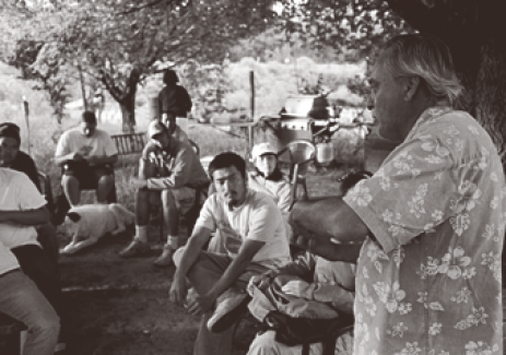 Estevan Arellano with ALI Summer Field Station students, circa 2007.