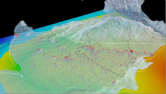 ALI GIS model/SFV basin