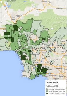 KPCC's Air Talk Cash for Grass map, SPCR, July 15th, 2014
