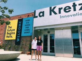 ALI's two summer interns, Elizabeth Plascencia and Kathryn Jacaruso.