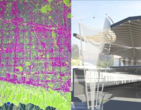 Hazel digital design tool [left] and Water Towers ALI [right], Doug Bergert, Anne Smith, Alex Sands, Perkins+Will, DLC First Prize Winner, 2014