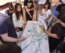 Watershed mapping at workshop tables.